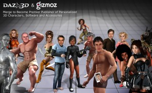 The companies will offer a large variety of 3D characters