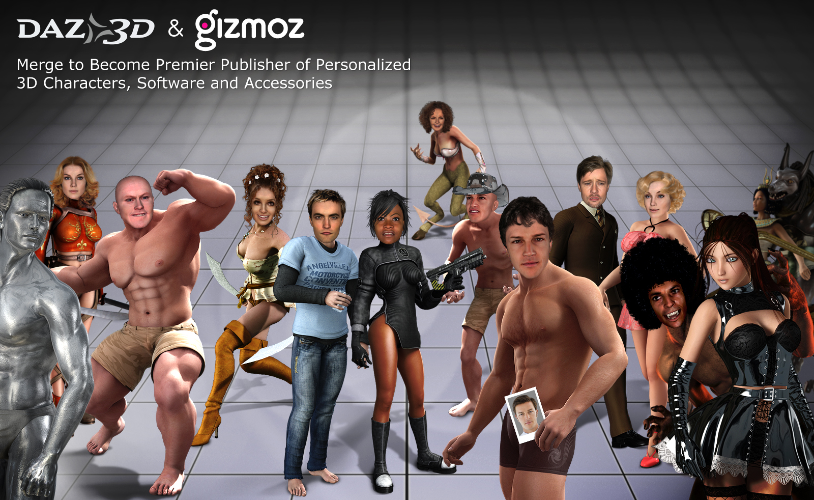 Avatar Creator Gizmoz Merges With Daz 3d Vc Cafe