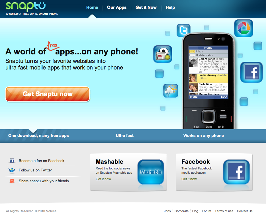 Snaptu, the app store for feature phones