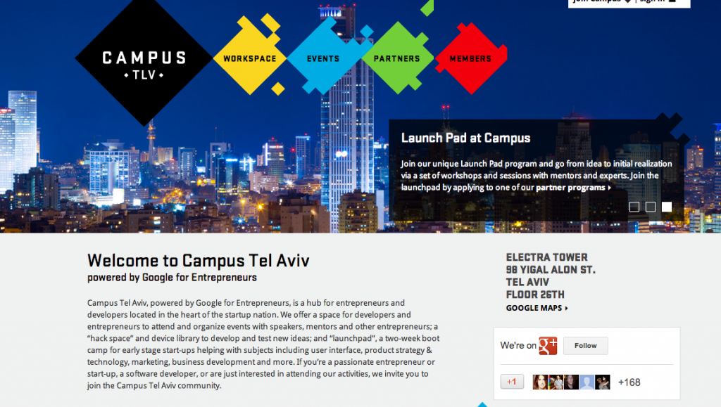 Campus Tel Aviv website